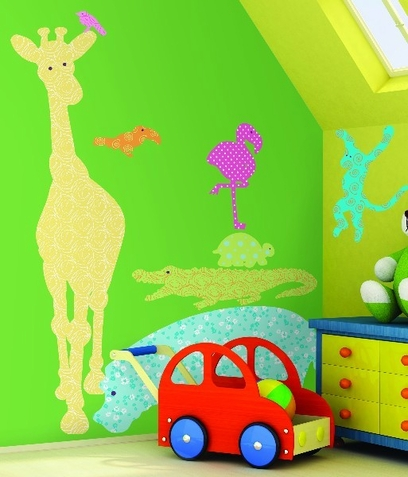 Animal Silhouettes Color Peel & Stick Giant Wall Decals