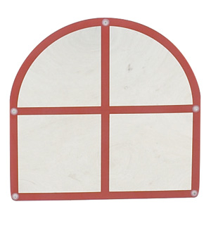 Arched Windowpane Shatter Resistant Mirror