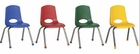 ECR4Kids Assorted Stacking Classroom Chairs - 6 Pack