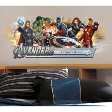 Avengers Peel & Stick Giant Headboard Decal w/Personalization