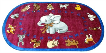 Baby Animals Learning Rug