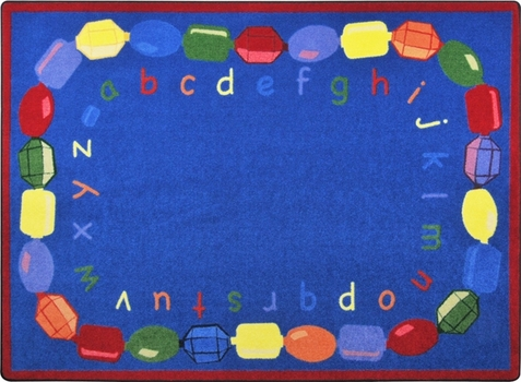 Baby Beads Alphabet Rug 5'4 x 7'8 Rectangle