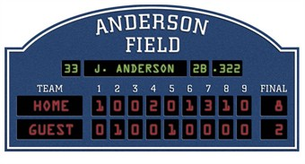 Baseball Scoreboard Peel & Stick Wall Decal