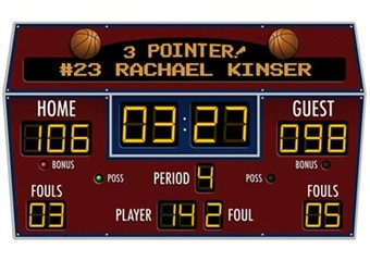 Basketball Scoreboard Wall Decal