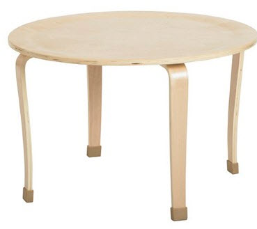 "ECR4Kids Bentwood 30"" Round Classroom Play Table"
