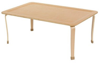 "ECR4Kids Bentwood 30"" x 48"" Rectangle Classroom Play Table"