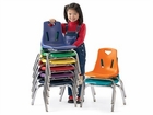 Jonti-Craft Berries Plastic Classroom Chairs with Metal Legs