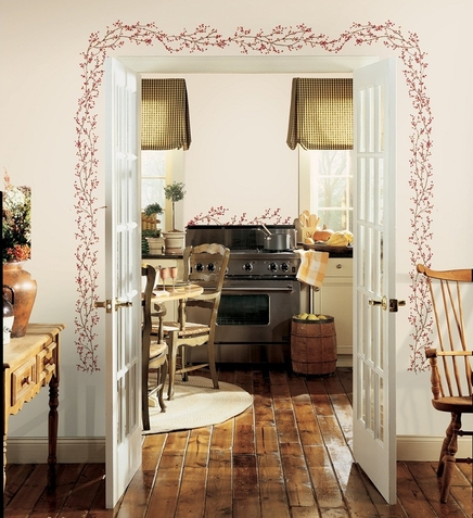 Berry Vine Giant Wall Decals