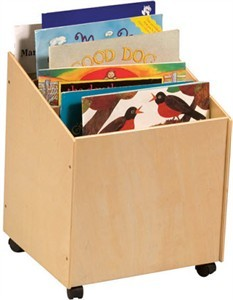 Big Book Storage Box with Casters