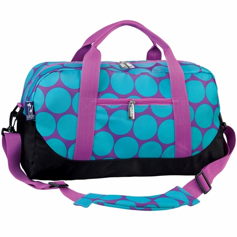 Big Dots Aqua Duffel Bag