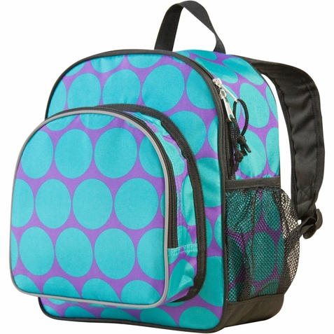 Big Dots Aqua Pack 'n Snack Backpack