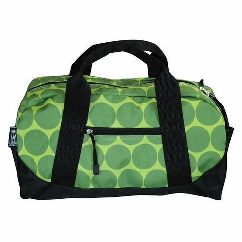 Big Dots Green Duffel Bag
