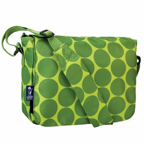 Big Dots Green Kickstart Kids Messenger Bag