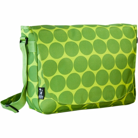 Big Dots Green Kids Laptop Messenger Bag - Free Shipping