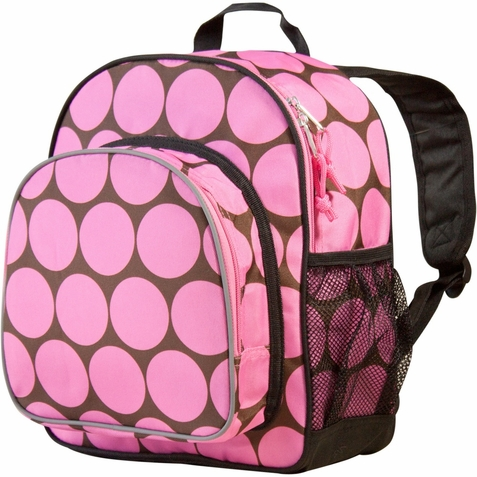 Big Dots Pink Pack 'n Snack Backpack