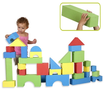 Edushape Big Educolor Blocks - 32 Piece Set
