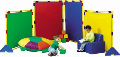 Big Screen Rainbow PlayPanel Set with Feet and Connector Clips