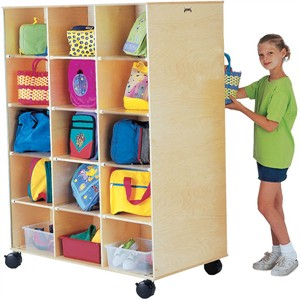 Jonti-Craft Big Twin Double Side Rolling Cubbie Unit
