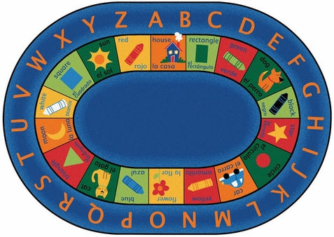 Bilingual Circletime Oval Rug Factory Second 8'3 x 11'8