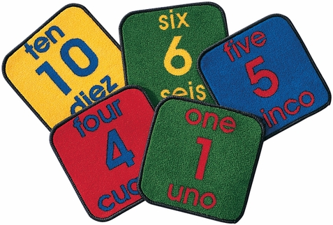 Bilingual Number Carpet Squares
