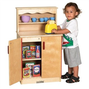 ECR4Kids Birch School Play Cupboard