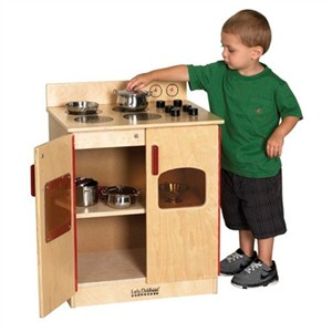 ECR4Kids Birch School Pretend Play Stove