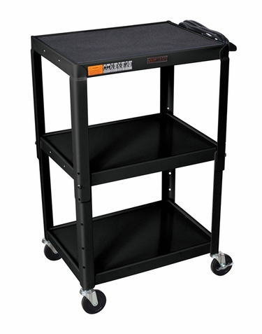 Black Adjustable Utility Cart