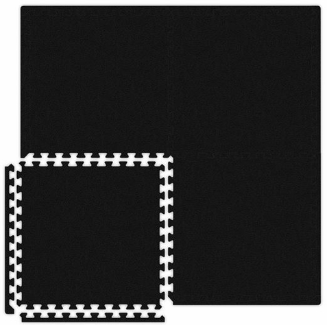 Black Interlocking Soft Touch Floor Mat - Free Shipping