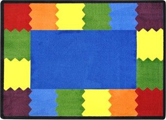 Block Party Classroom Area Rug 5'4 x 7'8 Rectangle