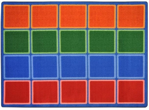 Blocks Abound School Seating Rug 5'4 x 7'8