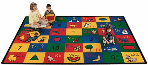 Blocks of Fun Seating Rug Factory Second 4'5 x 5'10