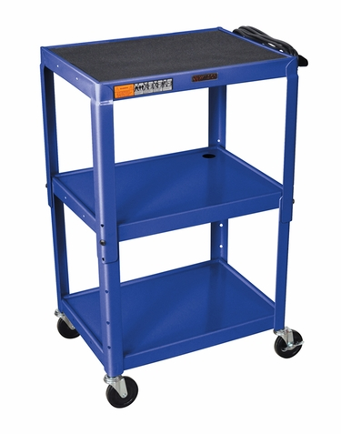 Blue Adjustable Utility Cart