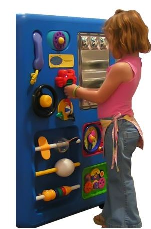 Blue Plastic Play Panel Toy for Waiting Areas - Out of Stock