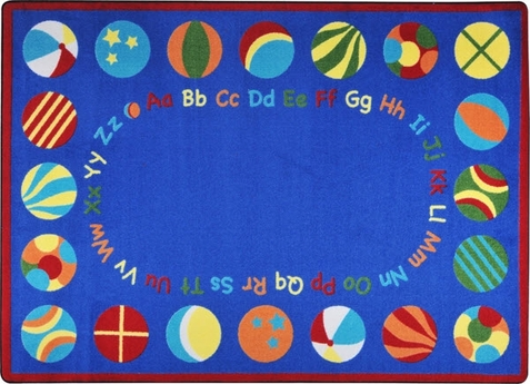 Bouncy Balls Preschool Rug