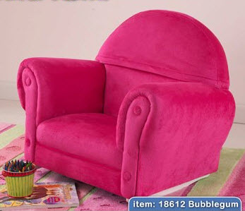 KidKraft Bubble Gum Velour Upholstered Rocker w/ Slip Cover