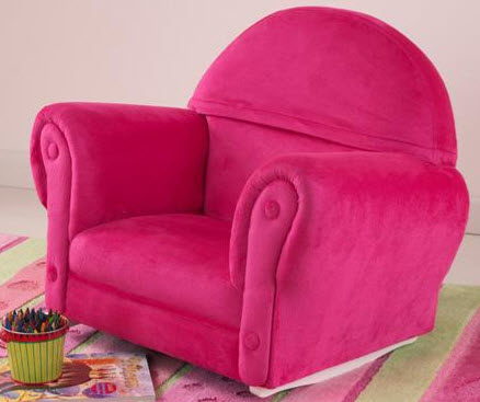 KidKraft Bubble Gum Velour Upholstered Rocker