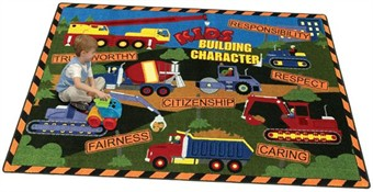Build A Child's Character Classroom Rug 5'4 x 7'8 Rectangle