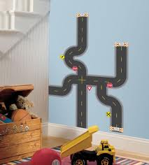 Build-A-Road Peel & Stick Wall Decals - Free Shipping