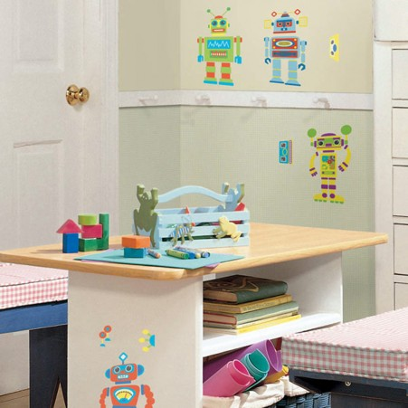 Build Your Own Robot Peel & Stick Decals