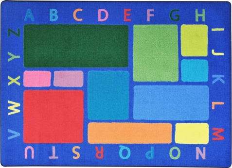 Building Blocks Early Childhood Classroom Rug