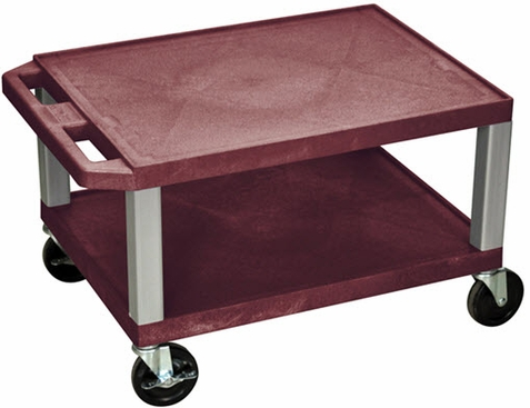 Burgundy Tuffy Short Utility Cart
