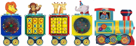 Anatex Busy Zoo Train Activity Wall Toy