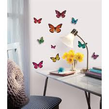 Butterfly 3-D Wall Decals - Free Shipping