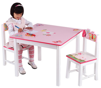 Butterfly Buddies Table Chair Set - Free Shipping