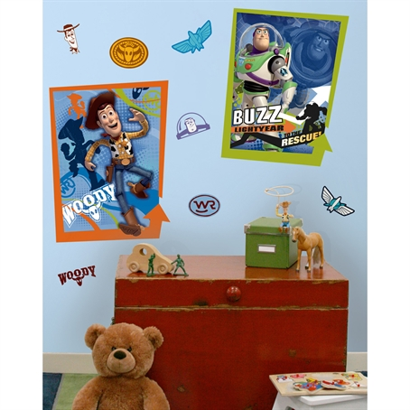 Buzz & Woody Peel & Stick Giant Posters