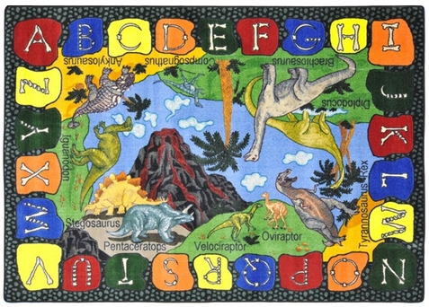 Can You Dig it Dinosaurs Classroom Carpet 5'4 x 7'8