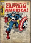 "Captain America Peel & Stick Comic Book Cover Decal 17"" x 24 1/4"" - Free Shipping"