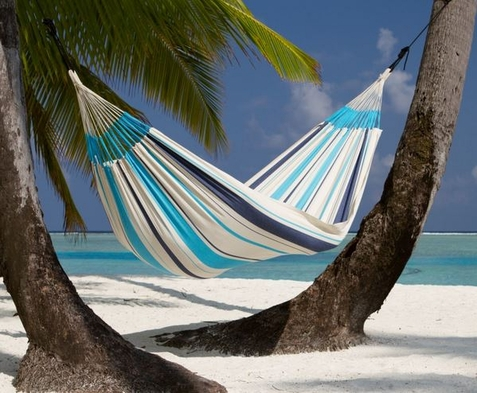 La Siesta Caribe�a Aqua Blue Single Hammock