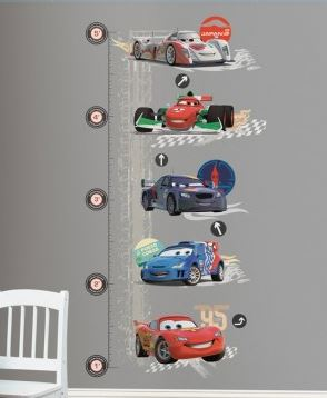 Cars 2 Lightening McQueen Peel & Stick Growth Chart