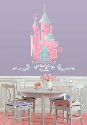 Castle Peel & Stick Giant Wall Decal w/ Personalization - Free Shipping
